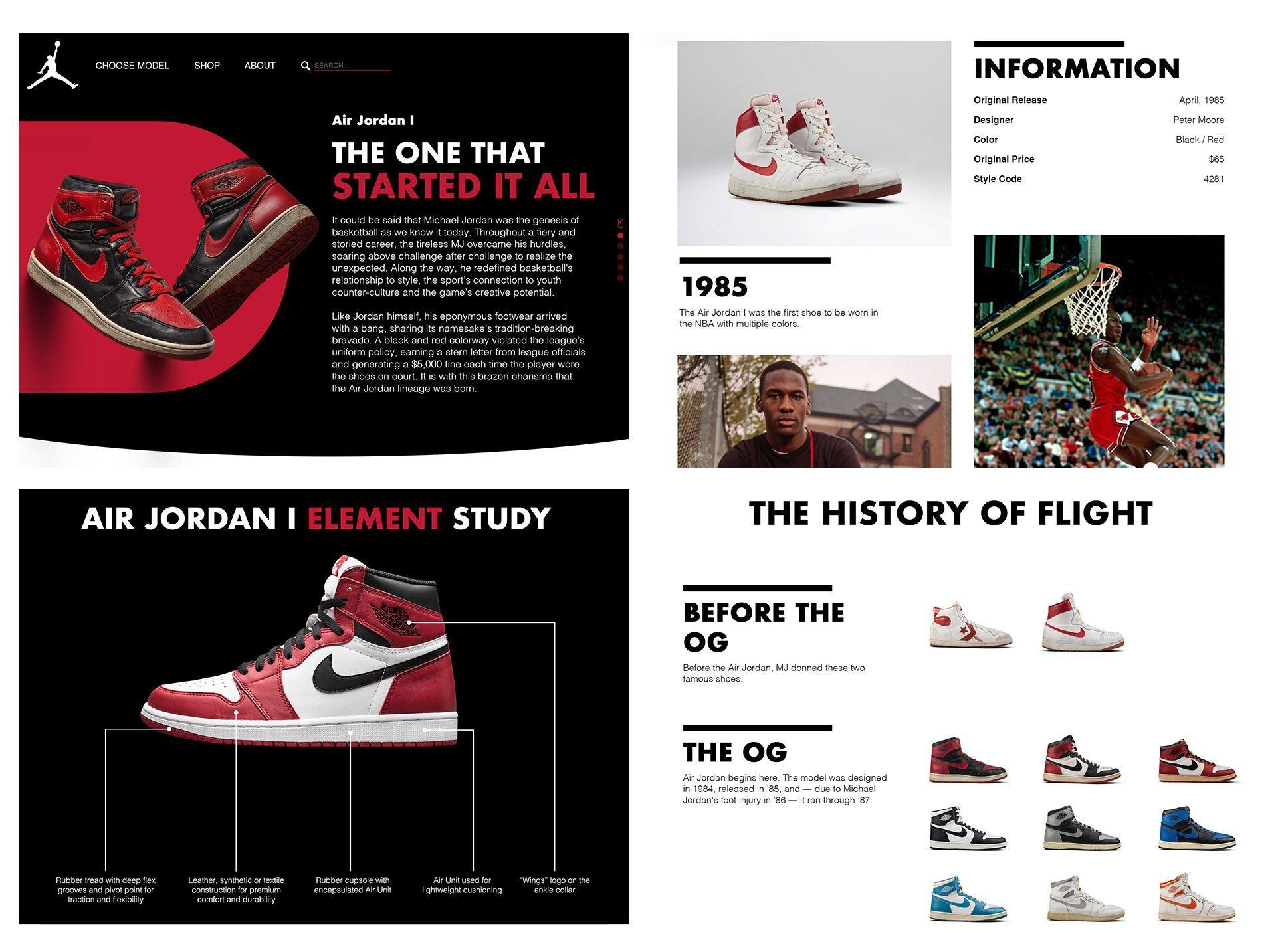 Jordan 1 Landing Page Redesign