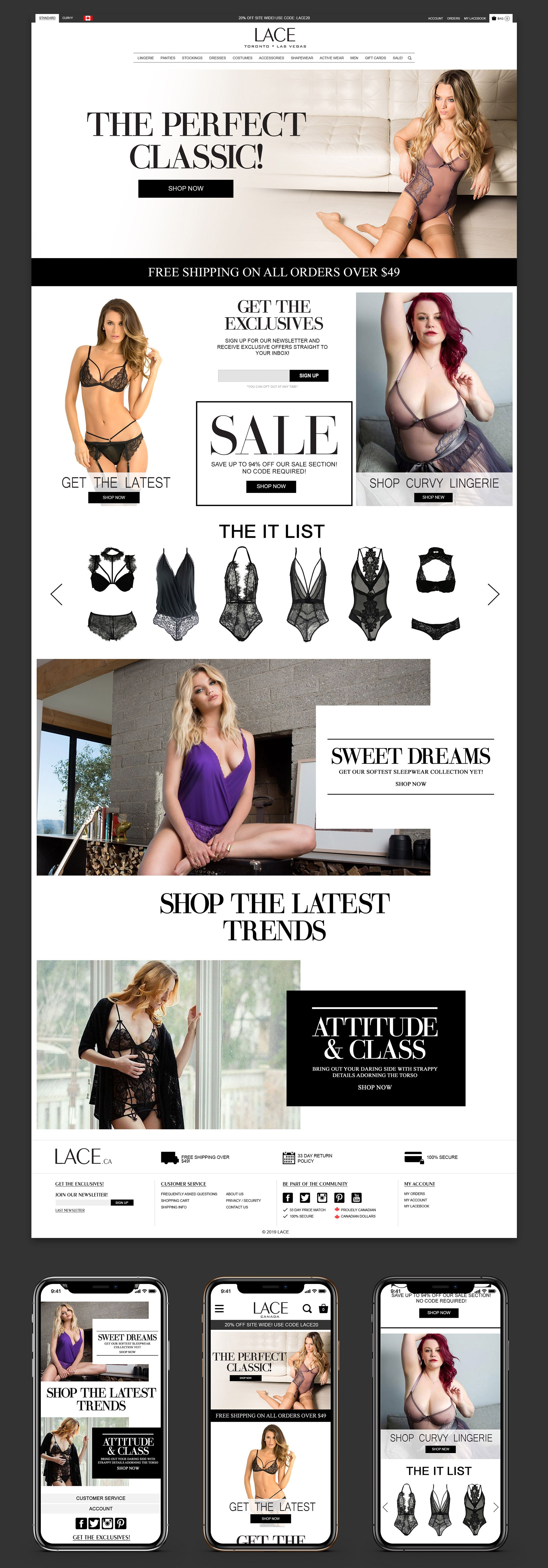 LACE Homepage Design