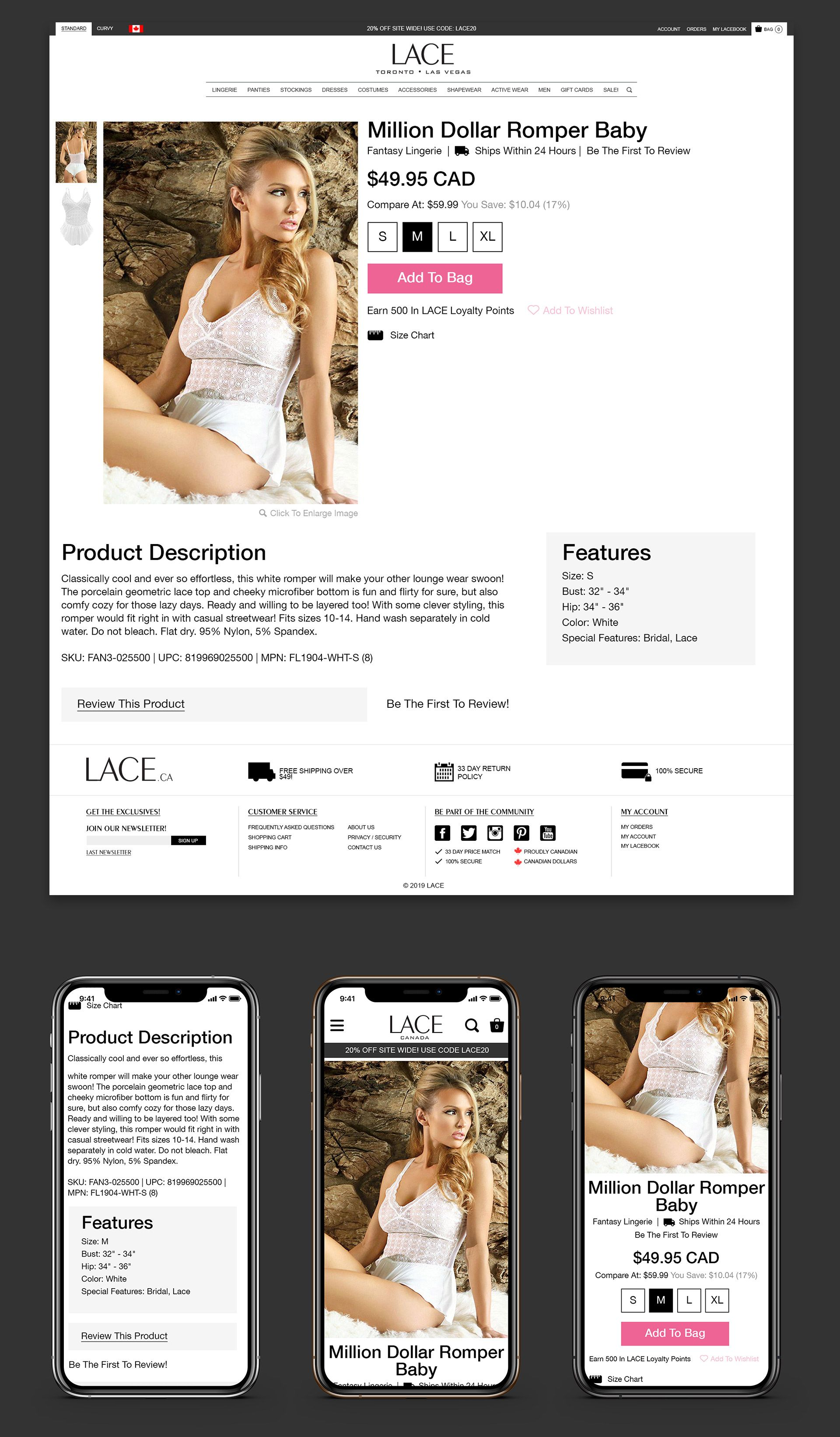 LACE Product Page Design
