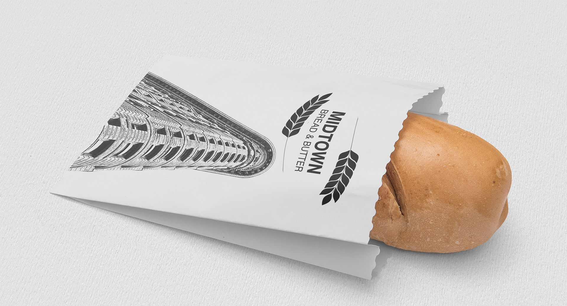 Bread Company Logo Design and Package Design Midtown Bread and Butter