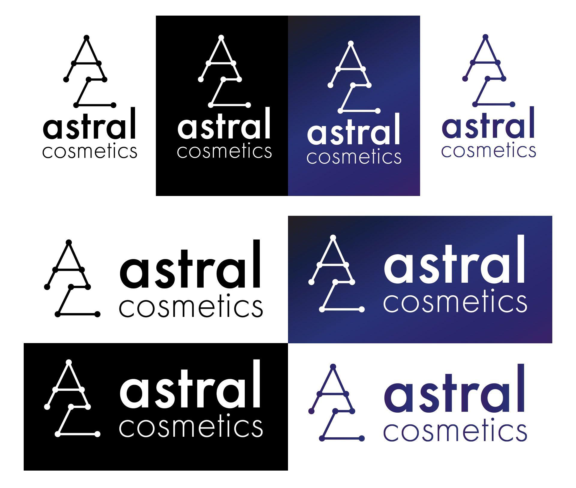 Logo Design For Astral Cosmetics - Obie Rifai Designs