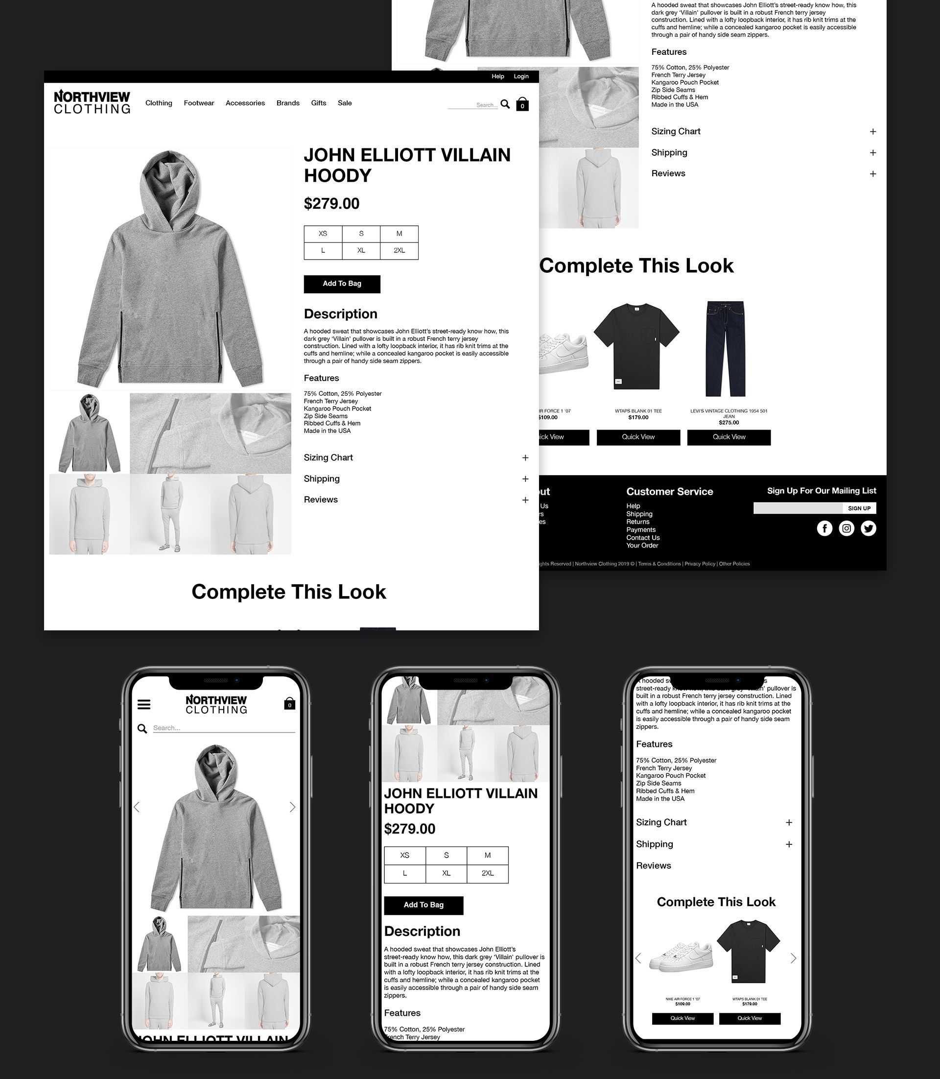 Northview Product Page Design