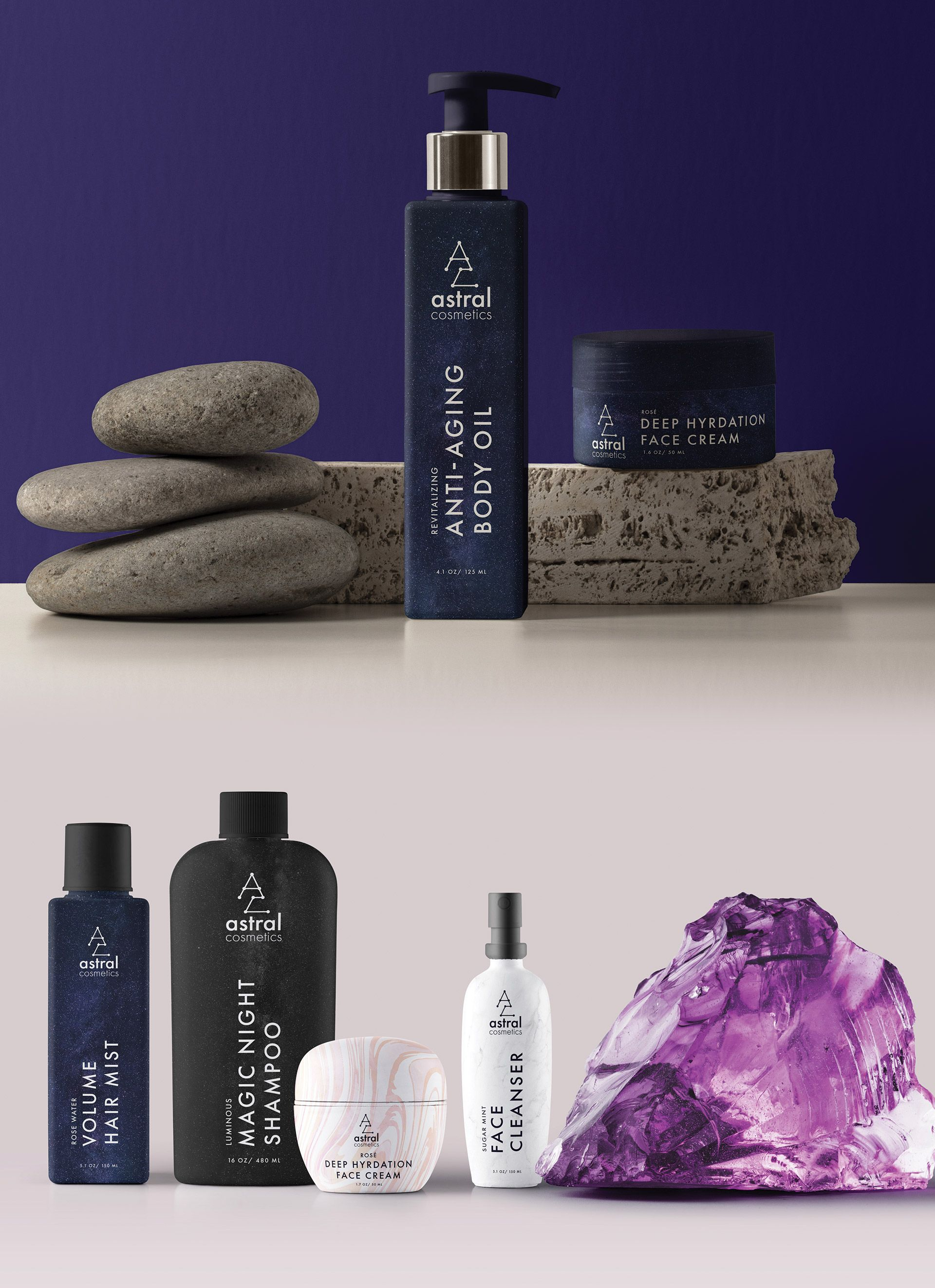Packaging Designs For Astral Cosmetics - Obie Rifai Designs