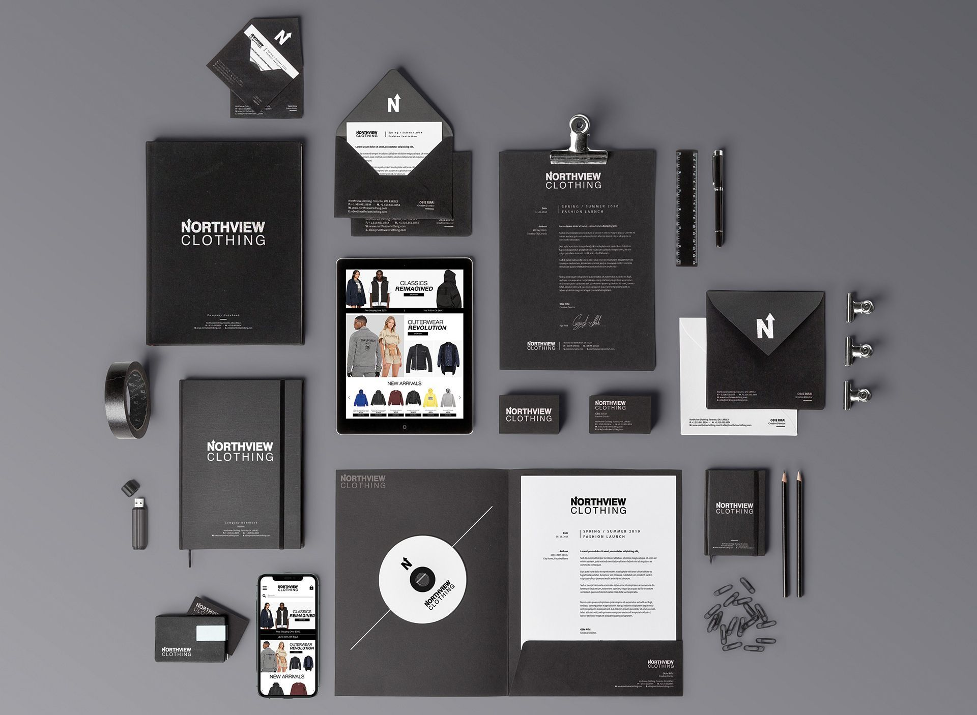 Northview Stationary Logo Design
